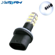 2Pcs 880 890 PGJ13 25 SMD White Car Fog Lights Signal Car LED Bulbs Lamp Auto H27W leds Car Light Source auto parking 12V