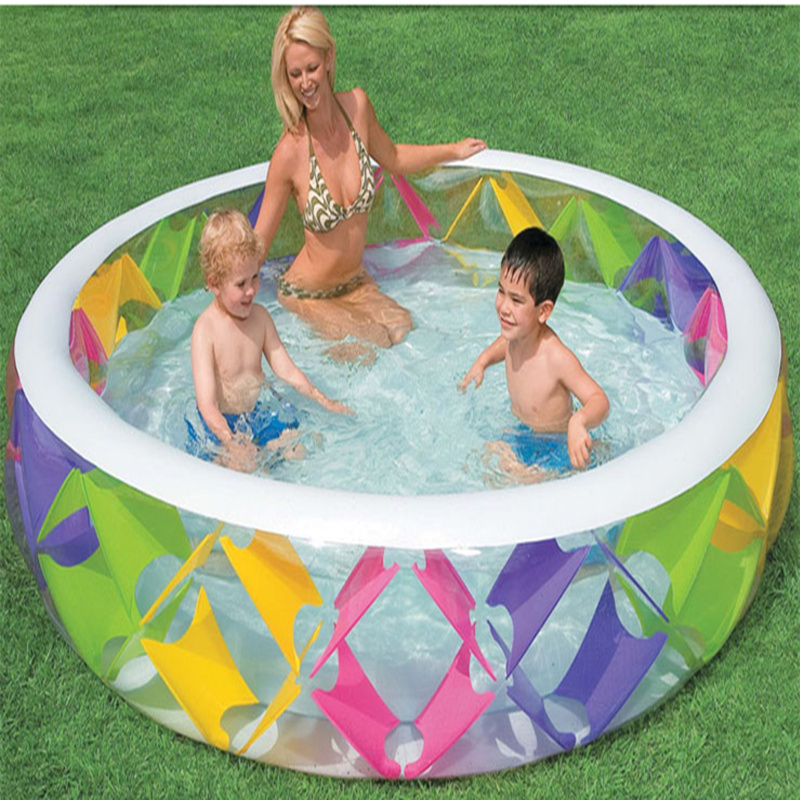 Hot Sale New Fashion Pool Children Swimming Pools 229*56CM Baby Inflatable Piscina Infanti For Adults Paddling Pool купить