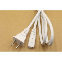 цена на 5PCS Power Strip Cord White US 2-Prong Plug Power line Laptop AC Adapter Power Cord Cable Lead 2 Pin 1.5m Extension Cord 2X0.75M