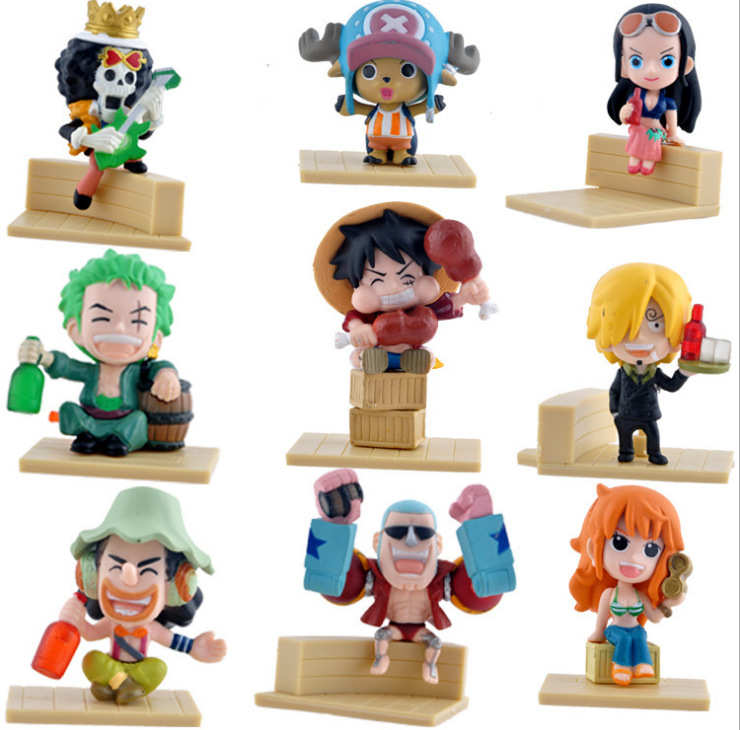 1 PCS Japaness Anime Cosplay <font><b>One</b></font> <font><b>Piece</b></font> Monkey <font><b>Luffy</b></font> Action Figures Model Collection Two Years Later Kids image