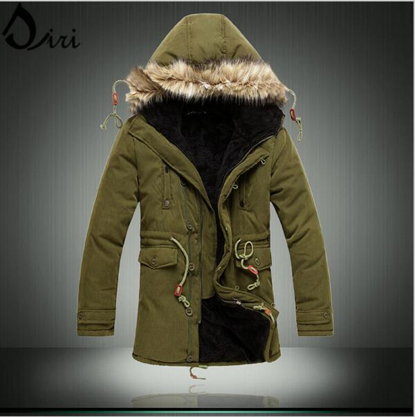 2017 New Russian men winter coats long paragraph lamb wool thick jacket cotton coat for male plus size M-3XL Army green black free shipping winter parkas men jacket new 2017 thick warm loose brand original male plus size m 5xl coats 80hfx