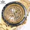 SEWOR Top Brand Luxury Watch Men Skeleton Mechanical Watch Gold Skeleton Sports Watch Mens Stainless Steel