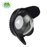 67 мм 0.7x fisheye широкоугольный объектив купол Порты и разъёмы (67 мм круглый) для Подводный водонепроницаемая Дайвинг Корпус камера сумка