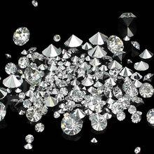 Для 3D художественное оформление ногтей круглой формы дизайн 1000 шт Кристалл/кристалл AB Смешанный Размер Блестящая задняя сторона стразы из смолы камень