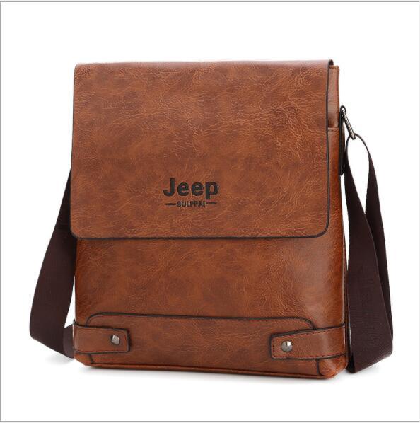 HTB1u7FuaFT7gK0jSZFpq6yTkpXan 2019 New Jeep Men's Bag Business Bag Men's Shoulder Messenger Bag Jeep Leather Casual Bag