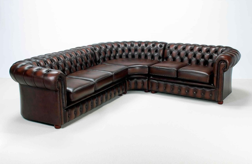 Simple Living Room European Leather White Sofa Supplier Factory Directly  Selling Corner Sofa Chesterfield