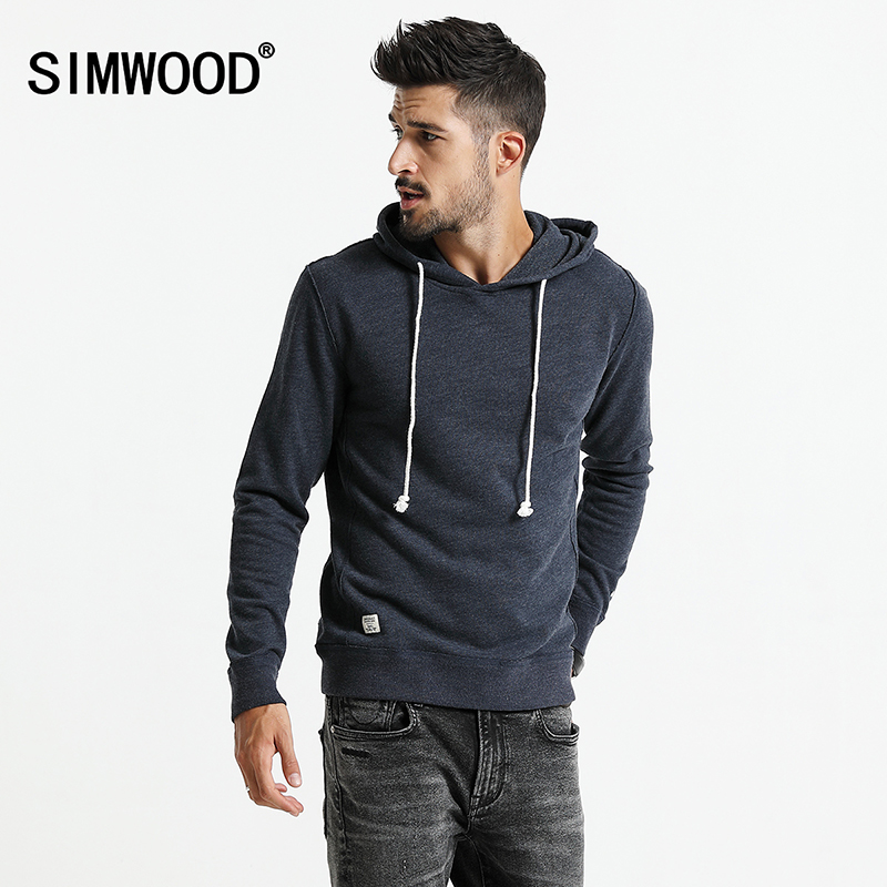 SIMWOOD 2017 Men Hoodies New Autumn Fashion sweatshirt  Male Casual moletom masculino  Slim Fit Plus Size Tracksuit WT017002
