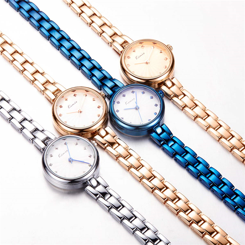 KIMIO Luxury Brand Women Blue Bracelet Watch Female Quartz Wristwatch Clock Waterproof Ladies Dress Watches Small Round Dial kimio brand bracelet watches women reloj mujer luxury rose gold business casual ladies digital dial clock quartz wristwatch hot page 7