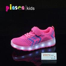 Laki-laki Perempuan Bernapas LED Menyala Sepatu Berkedip LED Sneakers Anak-anak Bercahaya Sepatu dengan Cahaya Glowing Sneakers Anak