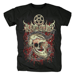 Bloodhoof thy arte é assassinato metal duro morte metal preto manga curta camiseta tamanho asiático