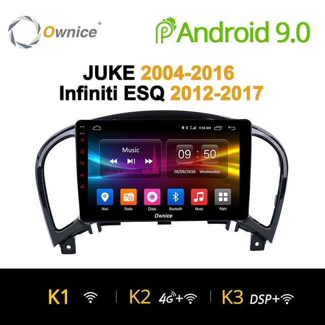 Ownice K1 K2 K3 Android 9,0 Octa core 2G Оперативная память dvd-плеер gps для NISSAN JUKE 2004-2016 автомобилей gps-навигация радио аудио системы