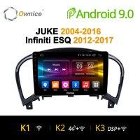 Ownice K1 K2 K3 Android 9.0 Octa core 2G RAM Car DVD Player GPS For NISSAN JUKE 2004 2016 car gps navigation radio audio system