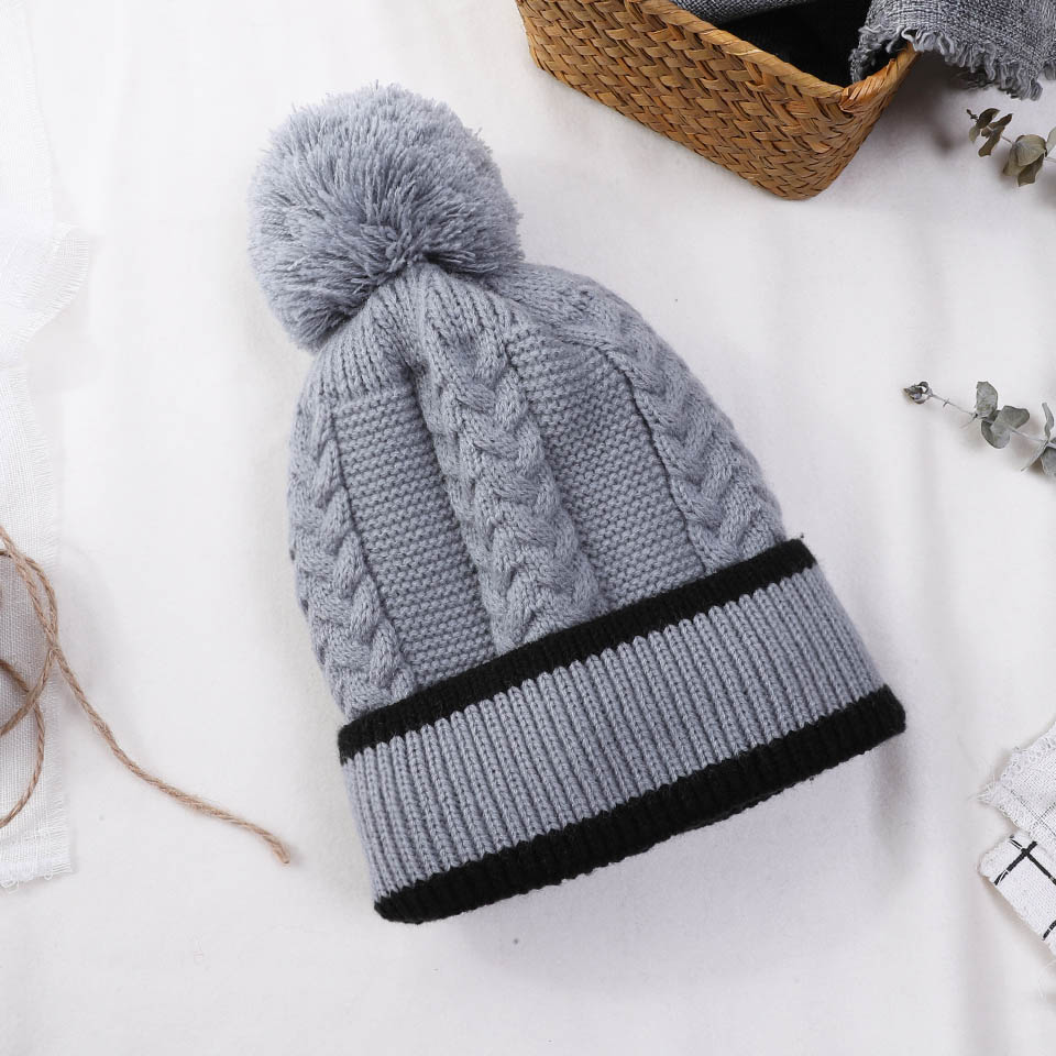 2018 New Fashion Winter Hats   Beanies   High Quality Knitted For Women   Skullies     Beanie   Hat Female Thick Warm Plus Velvet Hat Girls