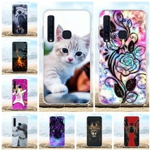 For Samsung Galaxy A9 2018 A920F Case Soft TPU Star Pro Cover Flowers Pattern A9s Coque