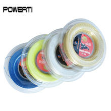 POWERTI 1.30mm Nylon Wire Soft Tennis String 200m Reel Durable Tennis String Racket Sport Training String PT122 powerti ts 4g 1 3mm tennis string polyester 200m reel tennis string sport gym tennis racquet training tennis lines for outdoor