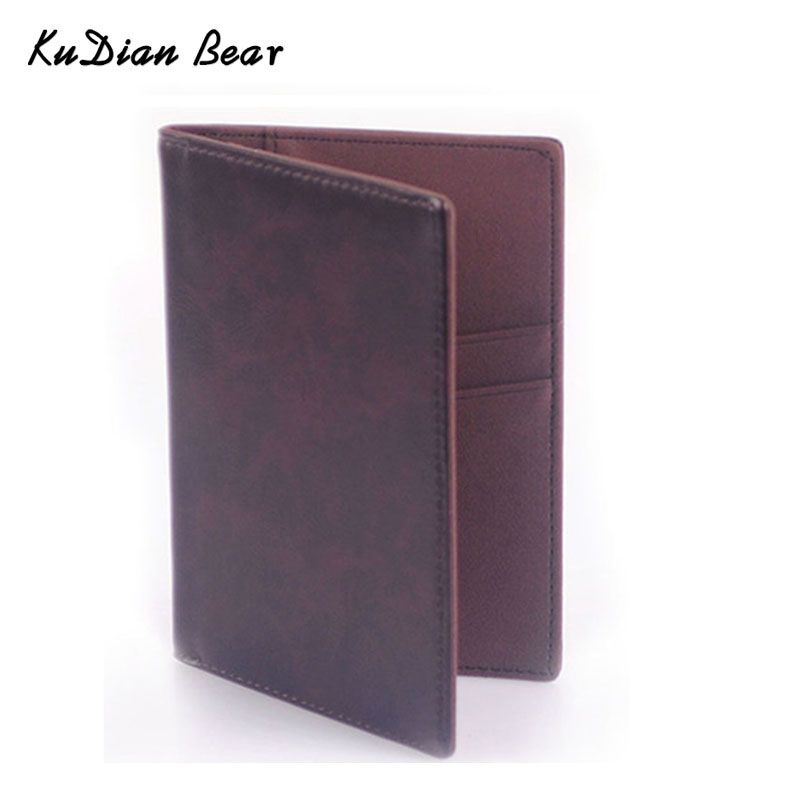 PU Leather Passport Cover Travel Business Passport Holder Minimalist Men Credit Card Holders Card Wallet -- BID021 PR49 etya men travel passport cover documents wallet fashion pu leather women male business credit card holder and passport holder