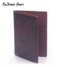 PU Leather Passport Cover Travel Business Passport Holder Minimalist Men Credit Card Holders Card Wallet BID021