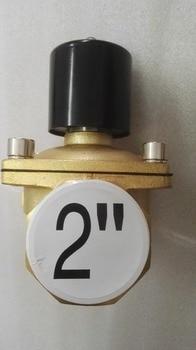 "2"" Electric Brass Gas Solenoid Valve LPG / NG Pneumatic Valve 2 Way Normally Close Valve"