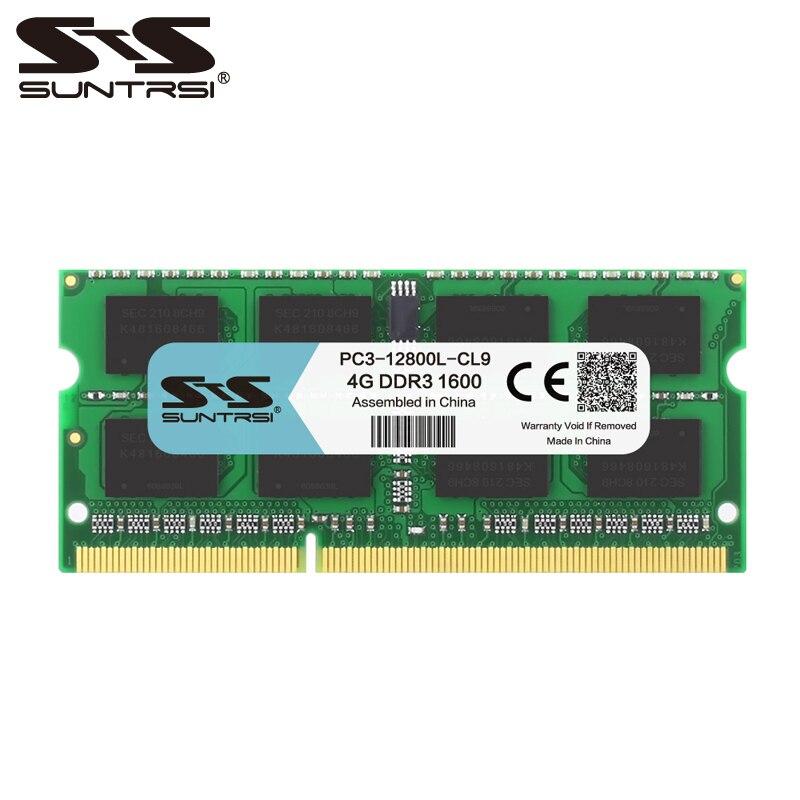 Ordinateur portable Suntrsi DDR3 4 GB 1600 MHz Ram 1333 Mhz mémoire portable 1.5 V 204 broches