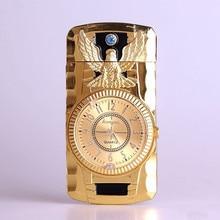 Butane Jet Lighter Clock Torch Lighter Men Gold Watch Quartz Compact Cigarette Cigar Straight Fire Lighter NO GAS excellent quality new military lighter watch men quartz refillable butane gas cigar watches special designed free shipping