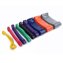 Faixa elástica resistente do látex natural, 208cm, borracha de borracha, faixa de treino, faixa fitness