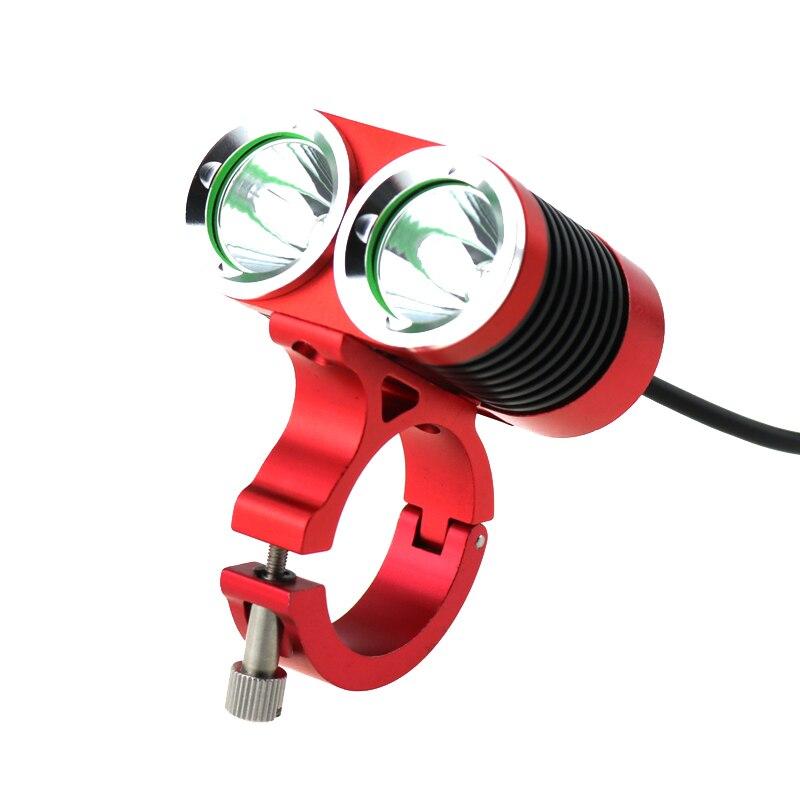 8.4 V 5000LM 2 X CREE XML U2 LED lampe frontale de vélo et phare étanche