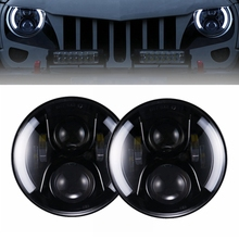 Yait 2 шт. 7 дюймов круглые светодиодные фары высокий низкий пучок DC12v 24 v фары для Wrangler Lada 4×4 urban Niva suzuki samurai