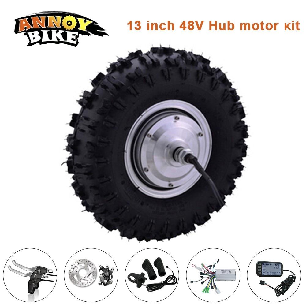 13 inch hub motor ebike conversion kit 13 39 39 48v 350w 500w for 500w hub motor kit