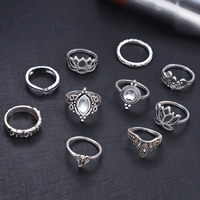 10pcs/Set Vintage Bohemian Ring Set (Less than 1$ each) 1