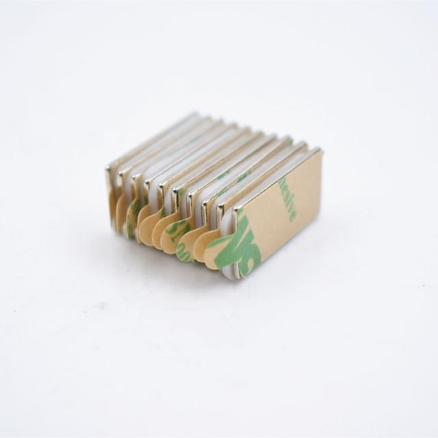 10 шт n52 неодимовый магнит с 3м клеем маленький блок супер