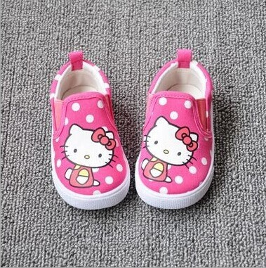 2018 New Hello Kitty/KT Cat Children Canvas Sneaker, Little Girl Polka Dot Red, Pink Casual Toddler Shoes, Princess First Walker чашка hello kitty kt