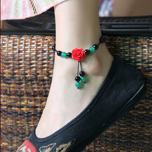 charm accessory China style jewelry Anklet blossoming roses