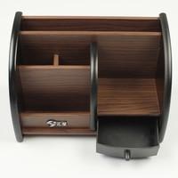 2017 New Hot Wooden Office Desktop Storage Box Organizer Remote Control Pen Stationery Holder Organizer Jewelry