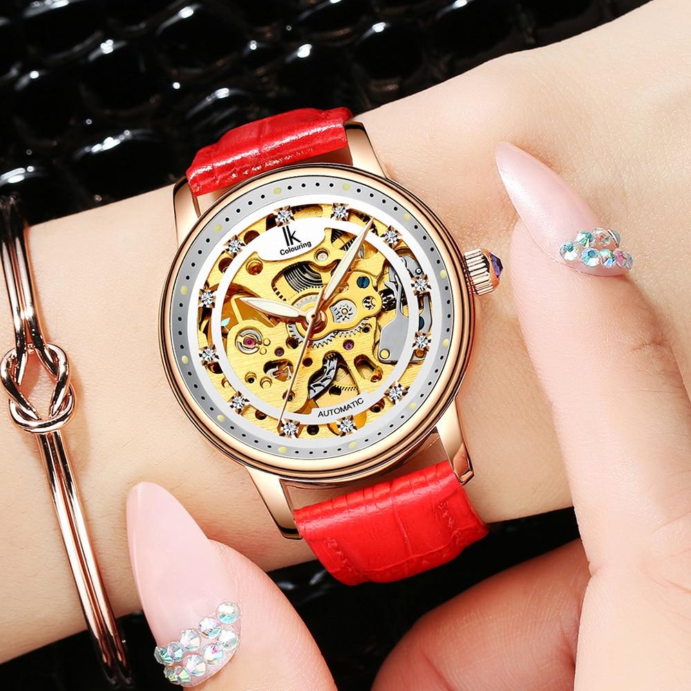 Femmes montre de luxe marque décontracté dames montre robe creux automatique mécanique montre horloge femme feminino reloj mujer - 6