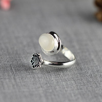 925 Sterling Silver Jewelry Ladies Fashion Fresh Lotus Adjustable Rings for Women Fashion Party Accessories Jewelry