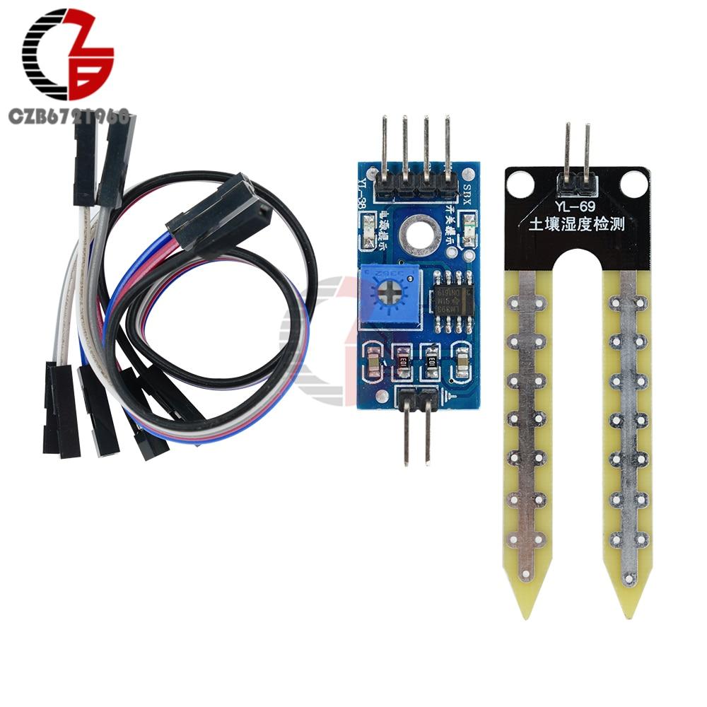 10 Stücke Boden Hygrometer-feuchtigkeits-detektionsmodul Boden Feuchtigkeit Wasser Sensor Detektor Board Diy Kit Für Arduino Dupont Kabel Verkaufspreis
