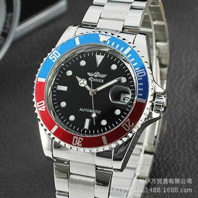 2019 Fashion Winner Men Luxury Brand Date Calendar Isplay Stainless Steel Watch Automatic Mechanical Wristwatch Relogio Releges