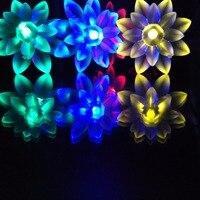 7 Mt 50LED Wasserdichte Lotus LED Solar Fee Girlanden String Licht Hochzeit Im Freien Weihnachten Bars Hotels Dekoration Casamento Luces