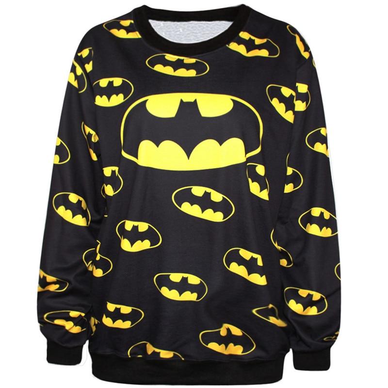 Harajuku 3D Print Super Hero Batman Sweatshirts Coat Cartoon Fashion Long Sleeve Men font b Women