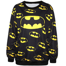 Harajuku 3D Print Super Hero Batman Sweatshirts Coat Cartoon Fashion Long Sleeve Men Women Hooded Hoodies Tracksuit Bat Tops