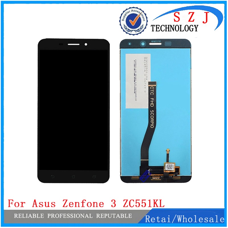 New 5.5'' inch LCD display+ Touch Screen Panel Digitizer For Asus Zenfone 3 Laser ZC551KL Free shipping new 5 5 inch full lcd display touch screen digitizer assembly replacement for asus zenfone 3 zoom ze553kl free shipping