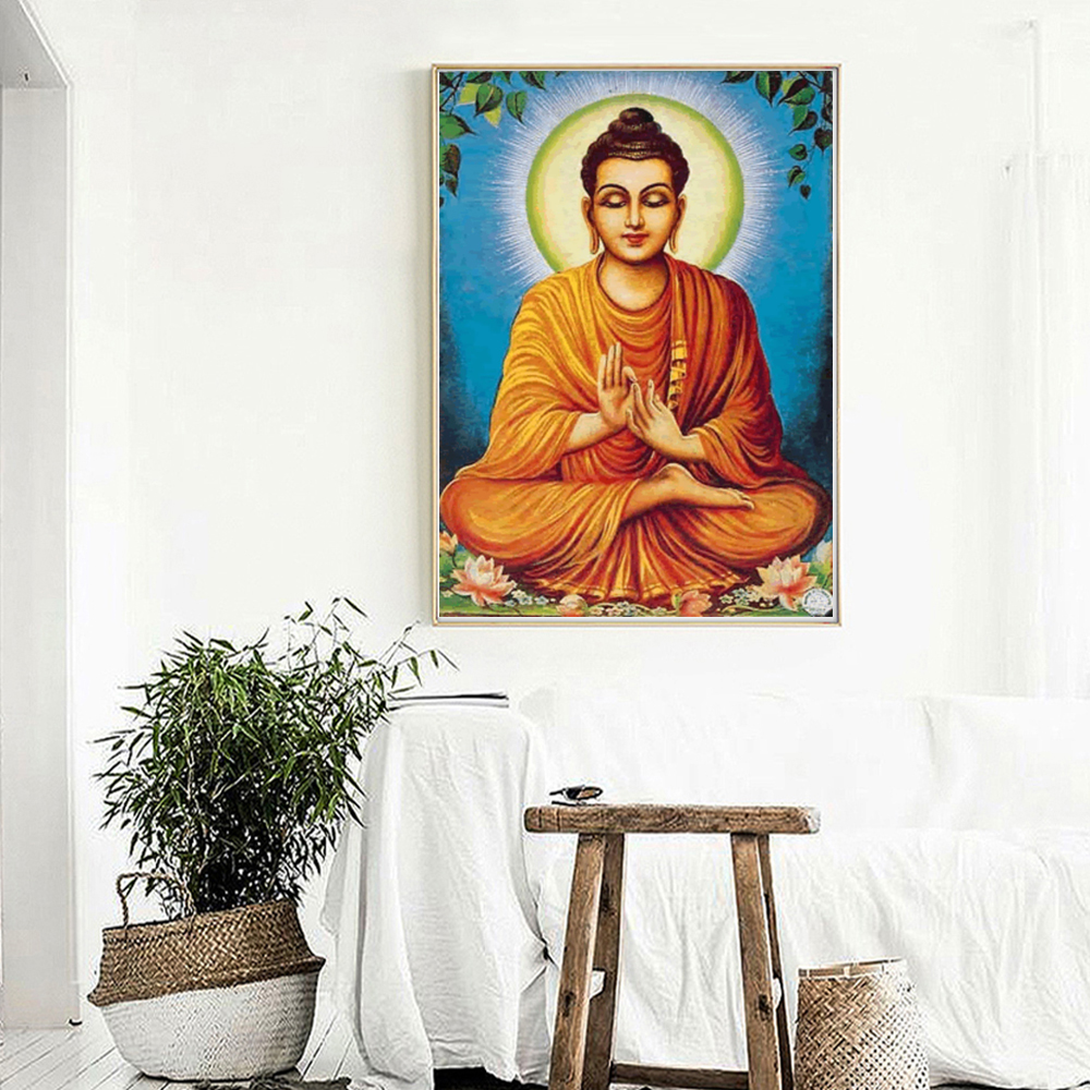 Lord Buddha Baba Astrologers HD Canvas Painting Print Bedroom Home Decoration Modern Wall Art Oil Painting Poster Salon Pictures in Painting Calligraphy from Home Garden