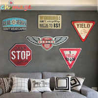 3D Irregular shade Vintage Iron metal Sign plaque Bar pub home House Cafe Restaurant Wall Decor Retro Metal Art sticker Poster