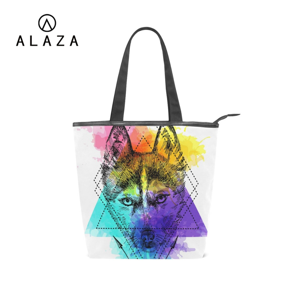 Luggage & Bags Women's Bags Cheap Sale Coloranimal Howling Wolf/galaxy Star Wolf Clutches Casual Bags For Ladies 3d Animal Print Large Capacity Women Handbags Tote Bag
