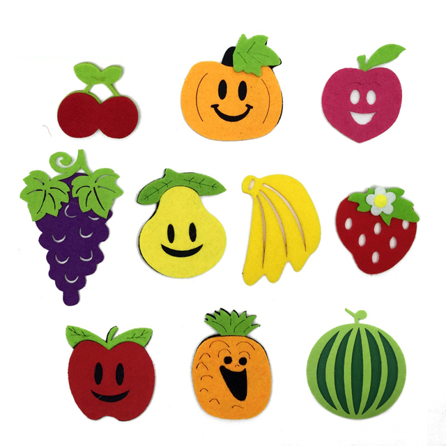 10 Lot Children Party Decorate Felt Fruit Kindergarten Classroom ...