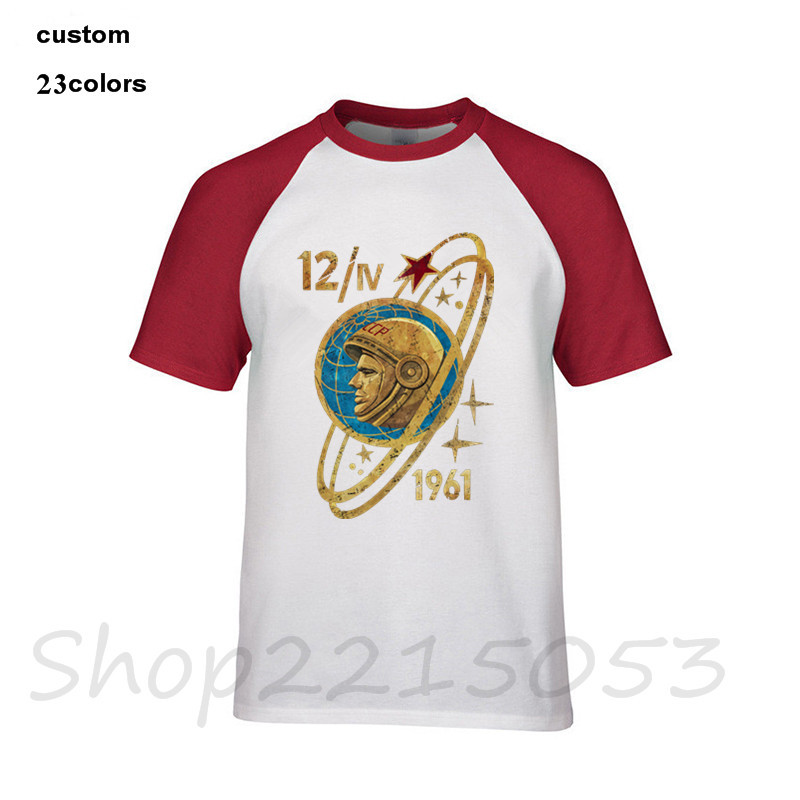 d013f7ff Russia CCCP Yuri Gagarin T Shirt Men's Popular Short Sleeve Cotton XXXL  Family Soviet cosmonaut 1961 T Shirt putin Male TSHIRT-in T-Shirts from  Men's ...