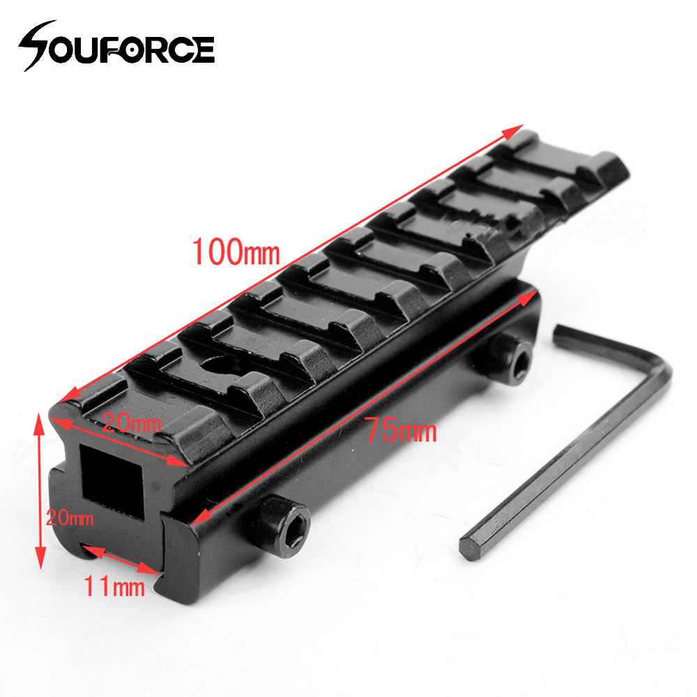 все цены на Tactical Rail 11mm to 20mm Dovetail to Weaver Rail Mount Base Adapter Scope Mount Converter for Riflescopes Hunting