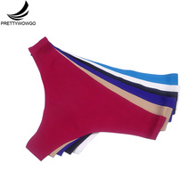 87288 Seamless Underwear 2016 New Arrival Women 6 Color G String Thong Panties M L XL XXL