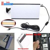 PDR Ausbeulen ohne Entfernung Reparatur USB LED Linie Bord Licht Scratch Reflektor Set
