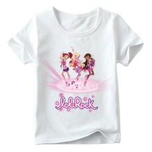 Children LoliRock Magical Girls Funny T Shirt Summer Baby Girls Cute Short Sleeve Tops Kids Casual T-shirt Free Shipping YUDIE god is with me jesus t shirt free shipping 489t shirtfree shipping tops t shirt fashion classic unique gift